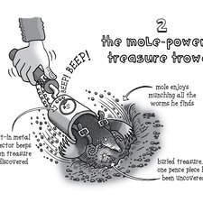 the mole-powered treasure trowel
