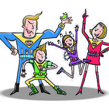 super-power family created for Holiday Company pitch