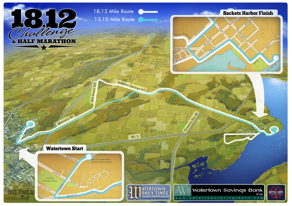 Race map and poster