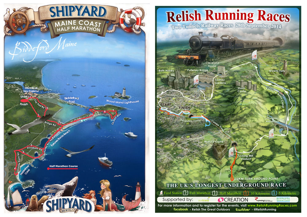 Race maps and posters