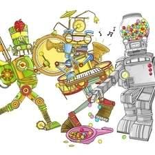 Robotic musicians character art