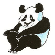 Panda relaxing.