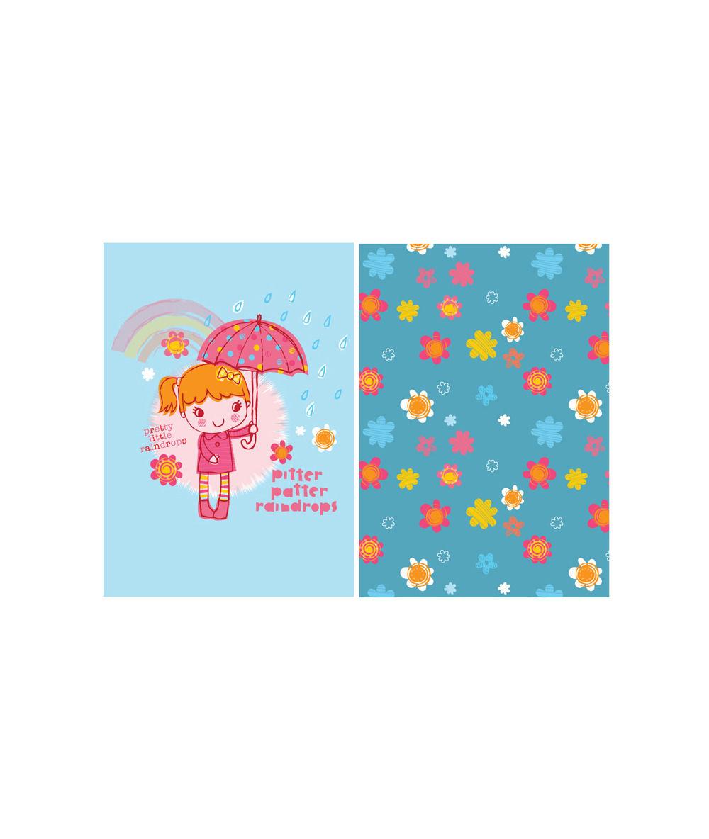 rain girl and pattern