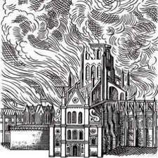 St Pauls on fire
