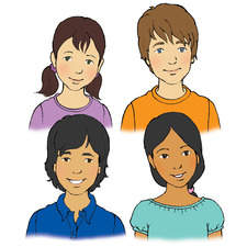 Ethnic mix of junior age children