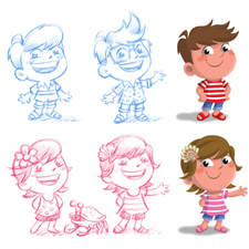 Character designs for NHS app