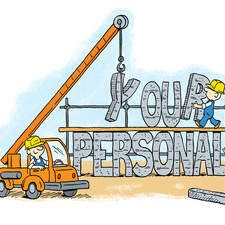 Illustration for self help e-book on personality.