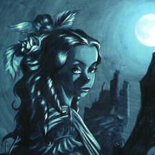 "Illustrated cover for the novel of gothic terror ""Carmilla"" published in the Penguin Active Reading, collection of publisher Pearson Longman.  Ilustración para portada para la novela de terror- gótico ""Carmilla""  publicada en la colección Penguin active Reading de la editorial Pearson Longman."