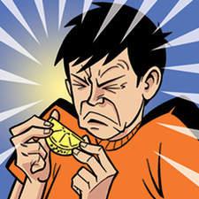 Pre-teen boy tasting foods