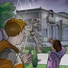 Dino Rampage - Cover illustration