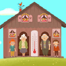 The weather Grandparents. Illustrations for an animated pre-school series.