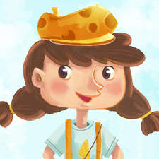 Cheese girl character design