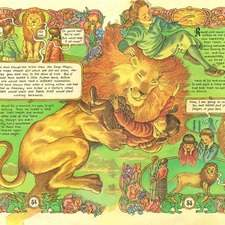 Spread for graphic novel adaptation of the Lion the Witch and the Wardrobe. Adapted and illustrated by myself.