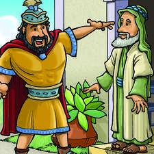 Naaman tells Elisha he is cured