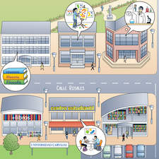 University Campus map for US ELT book.