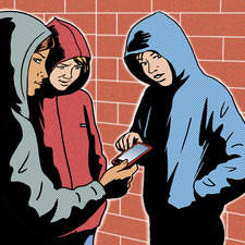 Illustration on effects of teenage crime.