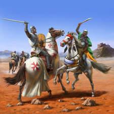 Crusader fighting