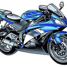 Modern motorbike