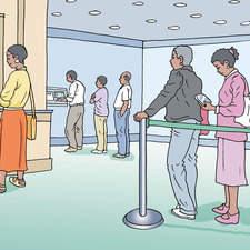 African bank Queue