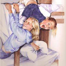 Two girls in bunkbeds