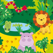 For a range of jungle-themed children's party tableware.