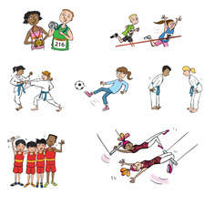 Children doing sport