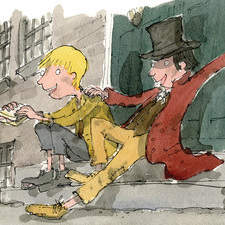 Oliver meets the artful Dodger on the streets of London