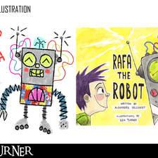 Rafa the Robot book illustrations