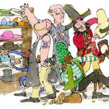 The planktown pirates are choosing there holiday hats