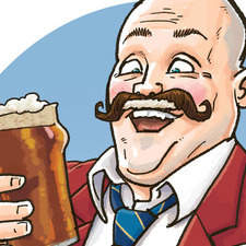 "Portrait Of Al Murray, Pub Landlord, commissioned by charity ""Gallery of Mo"" for Movember"