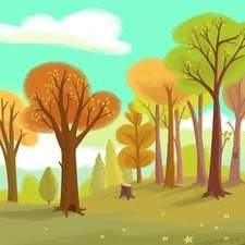 Background Illustration for an animated pre-school series.