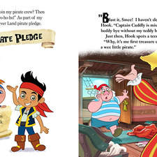 Internal spread for Read along book for Disney Junior series