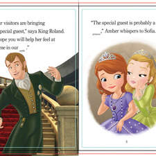 Internal spread for a Read Along book for Disney Junior World of Reading series