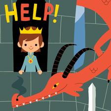 Fairy tale castle poster