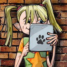 Girl reading her tablet produced for BBC Wildlife magazine