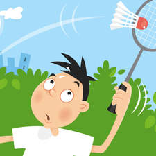 Playing Badminton on a hot day