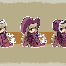 Penelope Pitstop re-design in old west style