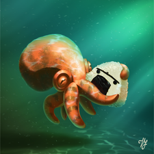 2d computer illustration for a poster