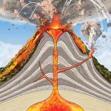 Volcano cross section