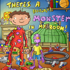 Book cover example ' Theres a ( friendly ) Monster in my room'