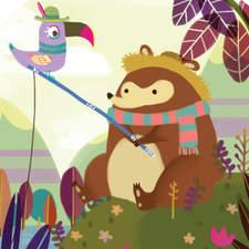 Friendship Bear with Bird