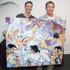 Paining for Arnold Schwarzenegger