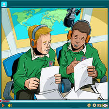 Alive In Christ: two boys presenting their Christian school radio show