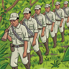 Comic Strip showing story of Malayan independence for OUP.