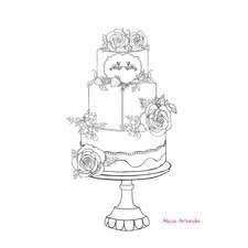 coloring cake by Alicia Arlandis