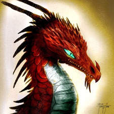 Red Chalcedony dragon