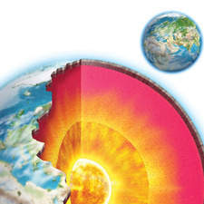 Planet Earth cross section