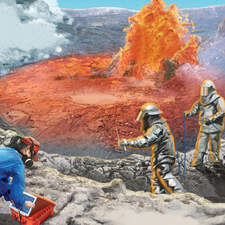 Planet Earth - Volcanic crater - Ladybird