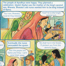Cartoon Strip Story of Divali for Badger Publishing