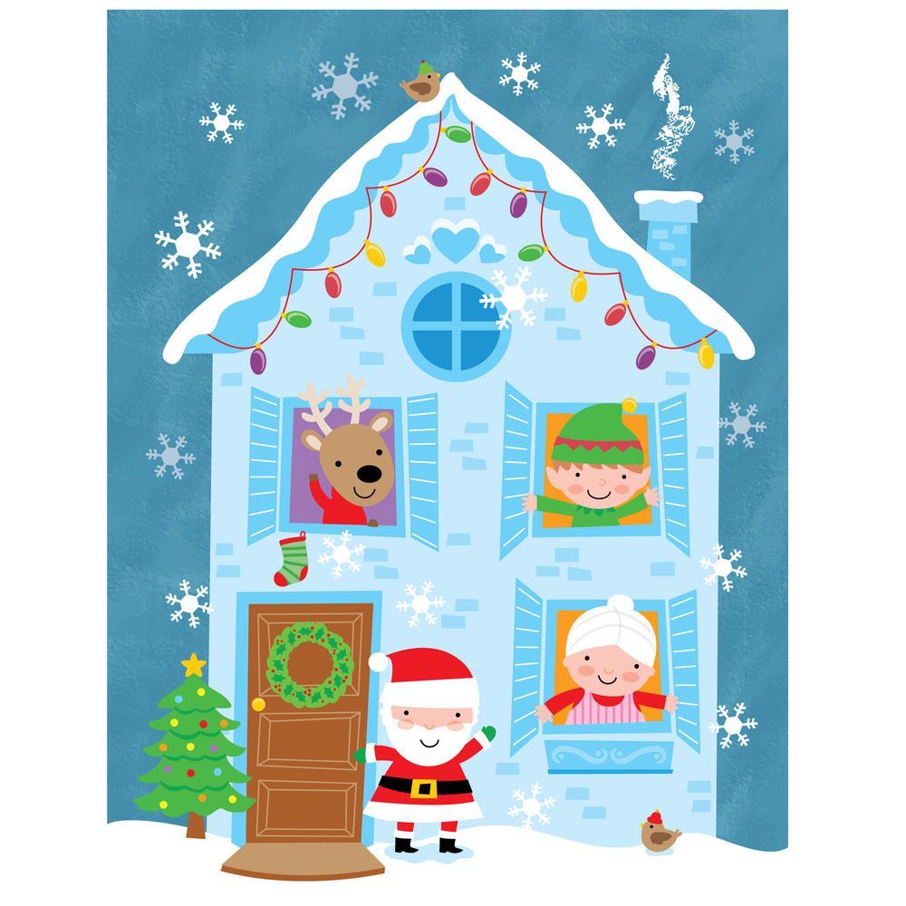 Christmas house-cute illustration of Christmas house